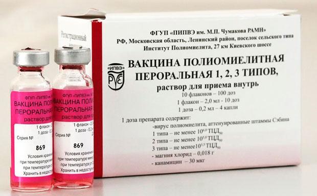 Вакцина полиомиелитная